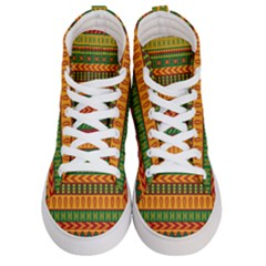 Mexican Pattern Men s Hi Top Skate Sneakers