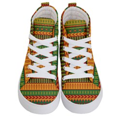 Mexican Pattern Kid s Hi Top Skate Sneakers