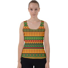 Mexican Pattern Velvet Tank Top by Sapixe
