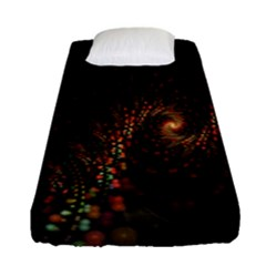 Multicolor Fractals Digital Art Design Fitted Sheet (single Size) by Sapixe