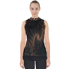 Multicolor Fractals Digital Art Design Shell Top by Sapixe