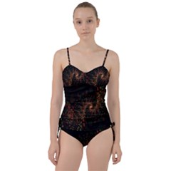 Multicolor Fractals Digital Art Design Sweetheart Tankini Set by Sapixe