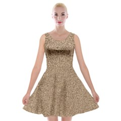 Mosaic Pattern Background Velvet Skater Dresses by Sapixe