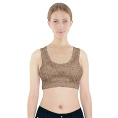 Mosaic Pattern Background Sports Bra With Pocket