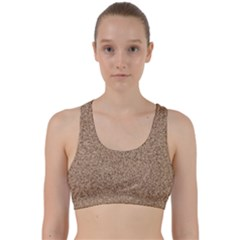 Mosaic Pattern Background Back Weave Sports Bra