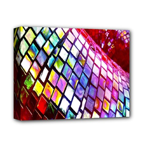Multicolor Wall Mosaic Deluxe Canvas 14  X 11  by Sapixe
