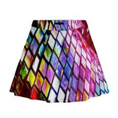 Multicolor Wall Mosaic Mini Flare Skirt by Sapixe