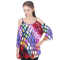Multicolor Wall Mosaic Flutter Tees