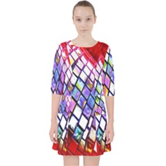 Multicolor Wall Mosaic Pocket Dress by Sapixe