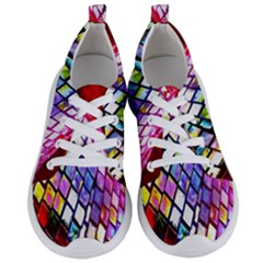 Multicolor Wall Mosaic Women s Lightweight Sports Shoes