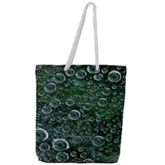 Morning Dew Full Print Rope Handle Tote (large)