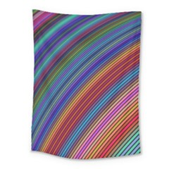 Multicolored Stripe Curve Striped Medium Tapestry by Sapixe