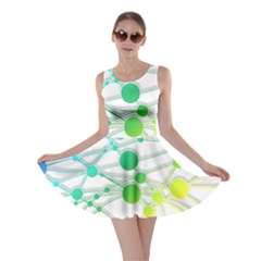 Network Connection Structure Knot Skater Dress by Sapixe