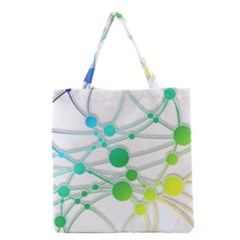 Network Connection Structure Knot Grocery Tote Bag