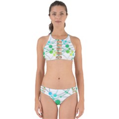Network Connection Structure Knot Perfectly Cut Out Bikini Set by Sapixe