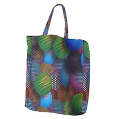 Multicolored Patterned Spheres 3d Giant Grocery Zipper Tote by Sapixe