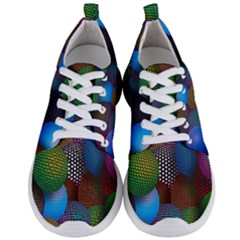 Multicolored Patterned Spheres 3d Men s Lightweight Sports Shoes