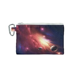 Nebula Elevation Canvas Cosmetic Bag (small)