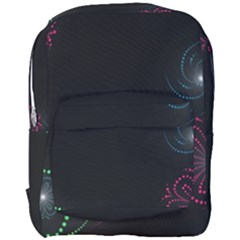 Neon Flowers And Swirls Abstract Full Print Backpack