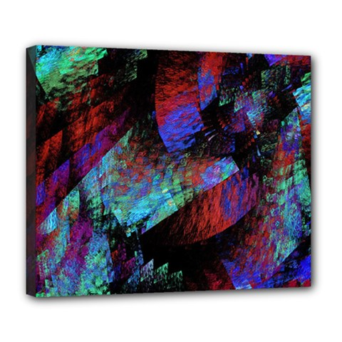 Native Blanket Abstract Digital Art Deluxe Canvas 24  X 20