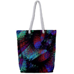 Native Blanket Abstract Digital Art Full Print Rope Handle Tote (small) by Sapixe
