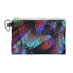 Native Blanket Abstract Digital Art Canvas Cosmetic Bag (large) by Sapixe