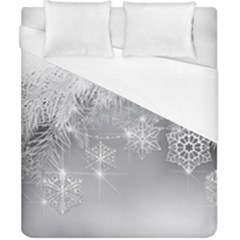 New Year Holiday Snowflakes Tree Branches Duvet Cover (california King Size) by Sapixe