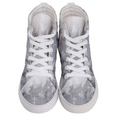 New Year Holiday Snowflakes Tree Branches Women s Hi Top Skate Sneakers