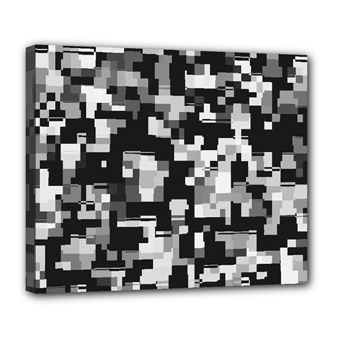 Noise Texture Graphics Generated Deluxe Canvas 24  X 20   by Sapixe