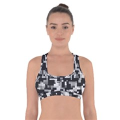 Noise Texture Graphics Generated Cross Back Sports Bra