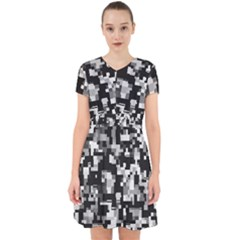 Noise Texture Graphics Generated Adorable In Chiffon Dress by Sapixe
