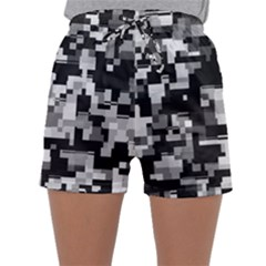 Noise Texture Graphics Generated Sleepwear Shorts by Sapixe