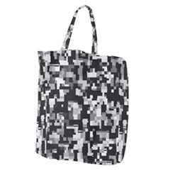 Noise Texture Graphics Generated Giant Grocery Zipper Tote