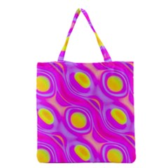 Noise Texture Graphics Generated Grocery Tote Bag by Sapixe