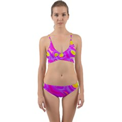 Noise Texture Graphics Generated Wrap Around Bikini Set by Sapixe
