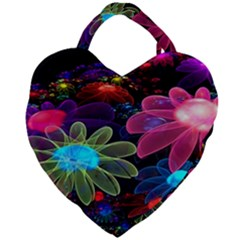 Nice 3d Flower Giant Heart Shaped Tote
