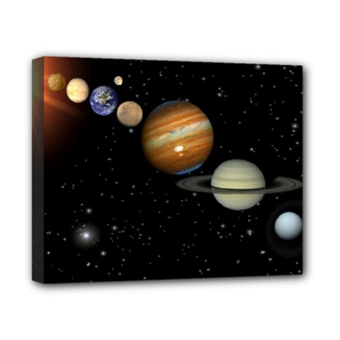 Outer Space Planets Solar System Canvas 10  X 8  by Sapixe