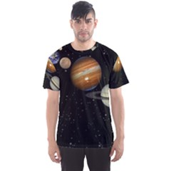 Outer Space Planets Solar System Men s Sports Mesh Tee by Sapixe