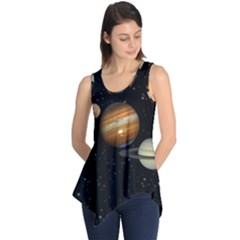 Outer Space Planets Solar System Sleeveless Tunic