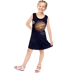 Outer Space Planets Solar System Kids  Tunic Dress by Sapixe