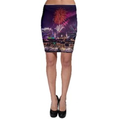 New Year New Year's Eve In Salzburg Austria Holiday Celebration Fireworks Bodycon Skirt by Sapixe