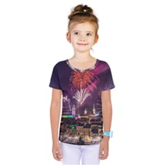 New Year New Year's Eve In Salzburg Austria Holiday Celebration Fireworks Kids  One Piece Tee by Sapixe
