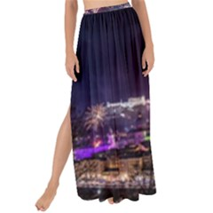 New Year New Year's Eve In Salzburg Austria Holiday Celebration Fireworks Maxi Chiffon Tie Up Sarong