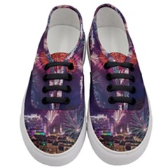New Year New Year's Eve In Salzburg Austria Holiday Celebration Fireworks Women s Classic Low Top Sneakers