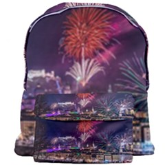 New Year New Year's Eve In Salzburg Austria Holiday Celebration Fireworks Giant Full Print Backpack by Sapixe