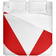 Roundel Of Austrian Air Force  Duvet Cover (king Size)