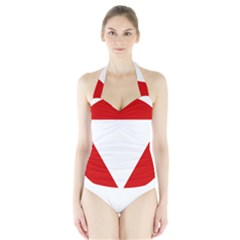 Roundel Of Austrian Air Force  Halter Swimsuit
