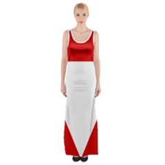 Roundel Of Austrian Air Force  Maxi Thigh Split Dress
