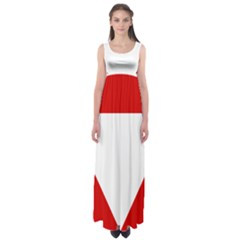 Roundel Of Austrian Air Force  Empire Waist Maxi Dress