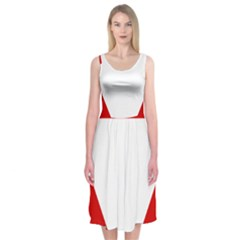 Roundel Of Austrian Air Force  Midi Sleeveless Dress